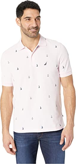 Short Sleeve Anchor Print Deck Polo