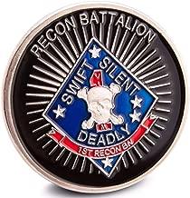 USMC 1st Reconnaissance Battalion Challenge Coin 1st Recon Bn United States Marine Corps Badge US3