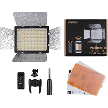 Yongnuo_ YN300 III LED Light with Adjustable Color Temperature 3200K-5500K for Cameras