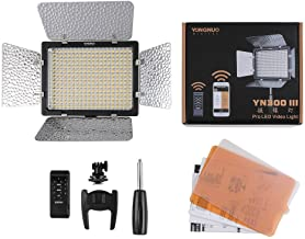 YONGNUO YN300 III LED Video Light with 5600k Color Temperatur e and Adjustable Brightness for Canon Nikon Pentax Olympus Samsung