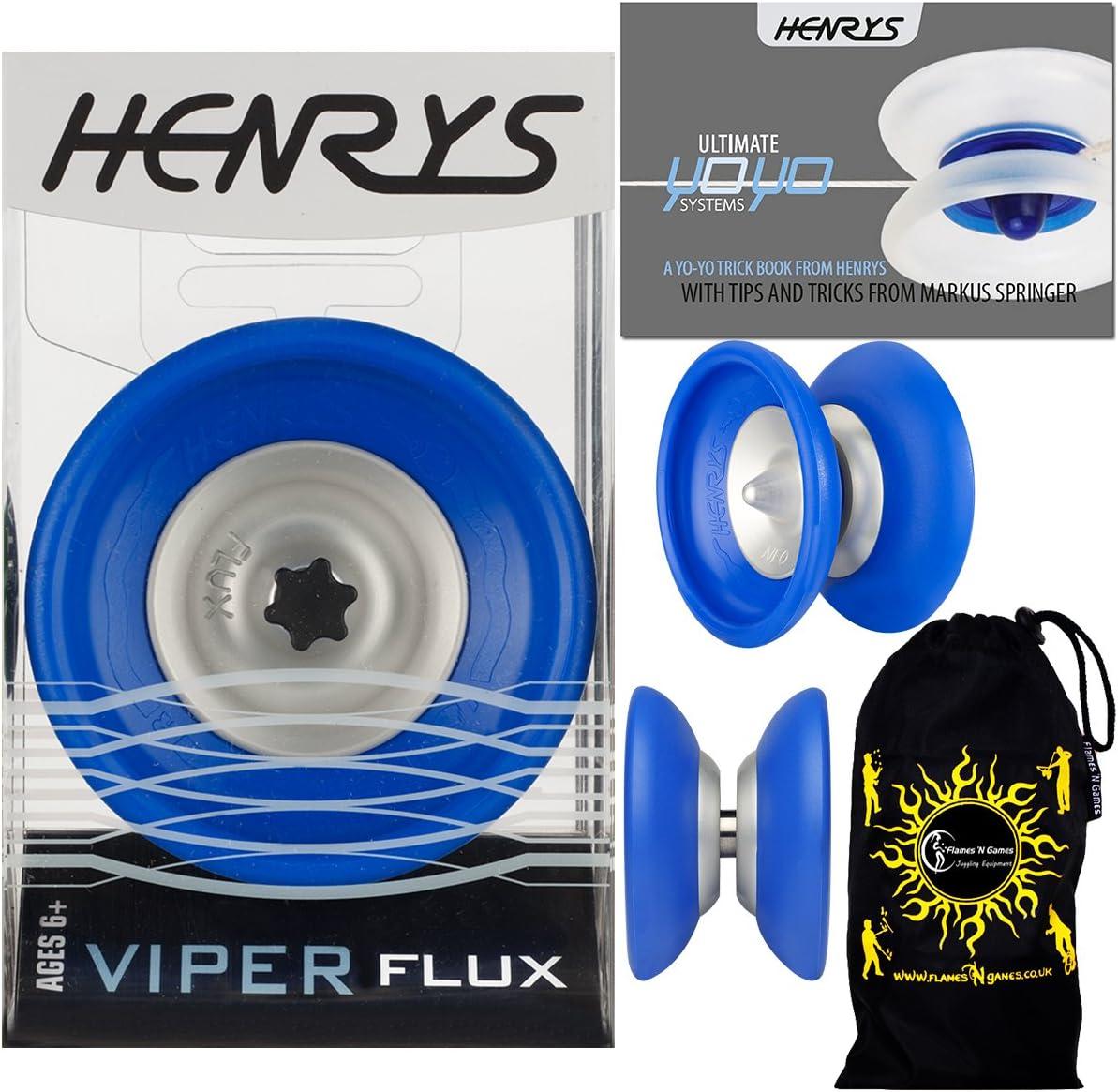 Henrys VIPER FLUX Pro YoYo Beauty products Blue Off Arlington Mall B String Professional 4A