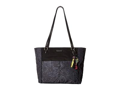 Sakroots Artist Circle Medium Tote (Black Spirit Desert) Tote Handbags