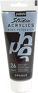 Pébéo 837026 Studio Acrylique Tube Noir de Mars 100 ml