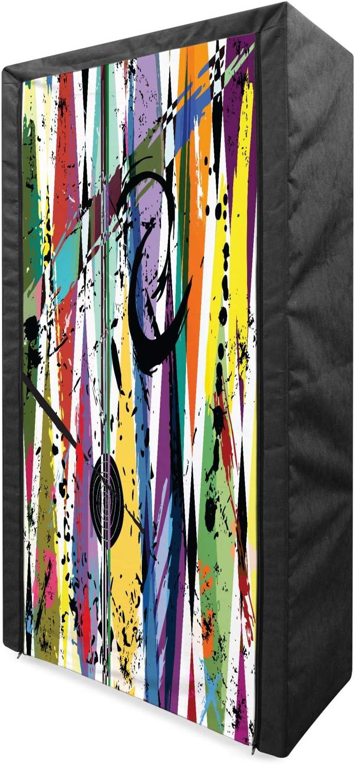Ambesonne Urban Graffiti Portable Daily Max 71% OFF bargain sale Fabric Eye Wardrobe Det Bulls