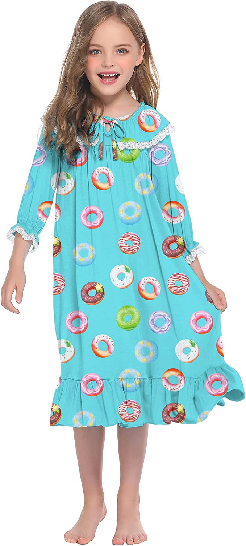 Ekouaer Girls Sales results No. 1 Nightgowns Long Sleeve Princess Sl Mail order cheap Sleepwear Comfy