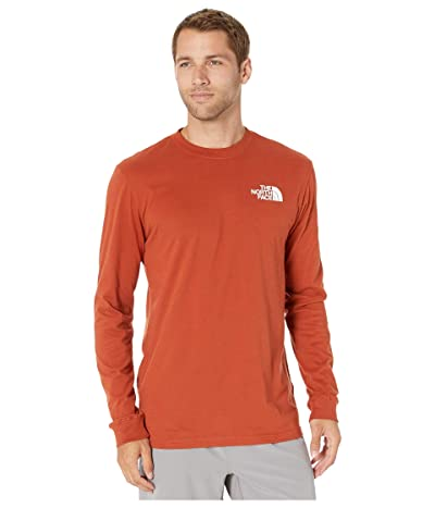 The North Face Long Sleeve Red Box T-Shirt (Picante Red) Men