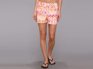 Columbia Sportswear Women's Cool Coast Shorts, Red Hibiscus Chevron Print, X-Large