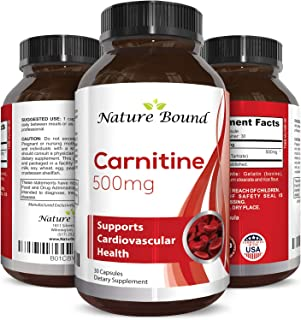 Pure L Carnitine Tartrate 500 Mg Supplement for Men and Women - Fast Acting Antioxidant to Increase Athletic Performance Fitness - Promotes Weight Loss and Energy – Improve Mental Clarity and Memory