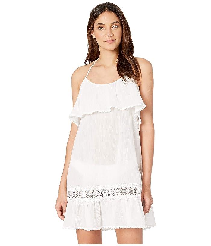 Kate Spade New York Grove Beach Ruffle Cover-Up Dress (Fresh White) Women