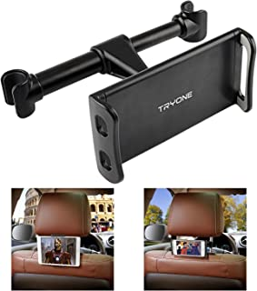 "Car Headrest Mount, Tryone Car Seat Tablet Holder for iPad/Samsung Galaxy Tabs/Amazon Kindle Fire HD/Nintendo Switch/Other Devices 4""-10.1"" (Black)"