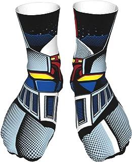 AsakawaKoutarou, Mazinger Z - Calcetines largos unisex con estampado de moda, de algodón, transpirables, informales, deportivos, calcetines gruesos