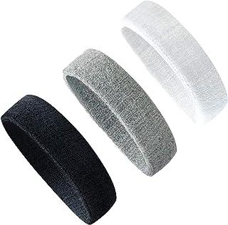 Yuyeran 3PCS Men Women Sweatband Headband for Yoga...