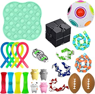 23 Pack Sensory Fidget Toys Set, Anti Stress Toy Set, Fidget Pack for Adults and Children, Stress Relief Hand Toys for ADH...