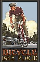 لوحة نورث ويست آرت مول ليك بلاسيد أديرونداك داون هيل بايكر من تصميم بول أ لانكويست، 27.94 سم × 43.18 سم