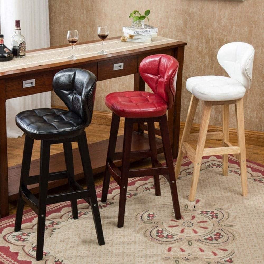HHGO Bar en Bois Tabouret, Tabouret Haut, Maison Salon Chambre Dossier Chaise, Tabouret de Maquillage Moderne for Cuisine Salle à Manger (Color : H) I