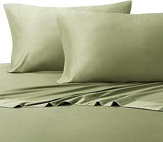 Royal Tradition 100 Percent Bamboo Bed Sheet Set, Split California King, Solid Sage, Super Soft and Cool Bamboo Viscose 5PC Sheets