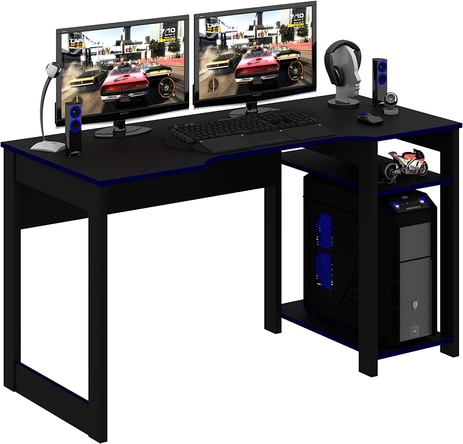 At the Max 48% OFF price OneSpace Aurora Gaming Desk Blue Computer