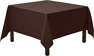 Gee Di Moda Square Tablecloth - 70 x 70 Inch - Chocolate Square Table Cloth for Square or Round Tables in Washable Polyester - Great for Buffet Table, Parties, Holiday Dinner, Wedding & More