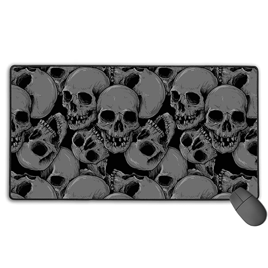 TLDRZD Mouse Pads Pack with Non-Slip Rubber Base, Premium-Textured and Waterproof Mousepads Bulk with Stitched Edges, Mouse Pad for Computers, Laptop, Office & Home A Lot of Skulls