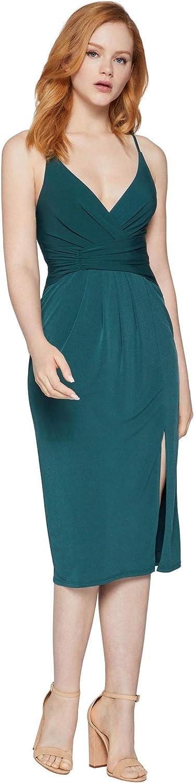 BCBGeneration Women's Faux Waist Wrap Cocktail Dress