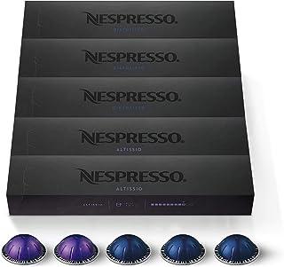 Nespresso Capsules VertuoLine, Espresso Variety Pack, Medium and Dark Roast Espresso Coffee, 50 Count Coffee Pods, Brews 1...
