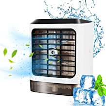 Voortreffelijk Draagbare airconditioner voor kamer, 3-in-1 Personal AC-fan USB Oplaadbare Watergekoelde Verdamping Draagba...