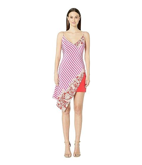 Cushnie Deep V Sleeveless Mini Dress with Asymmetrical Ove