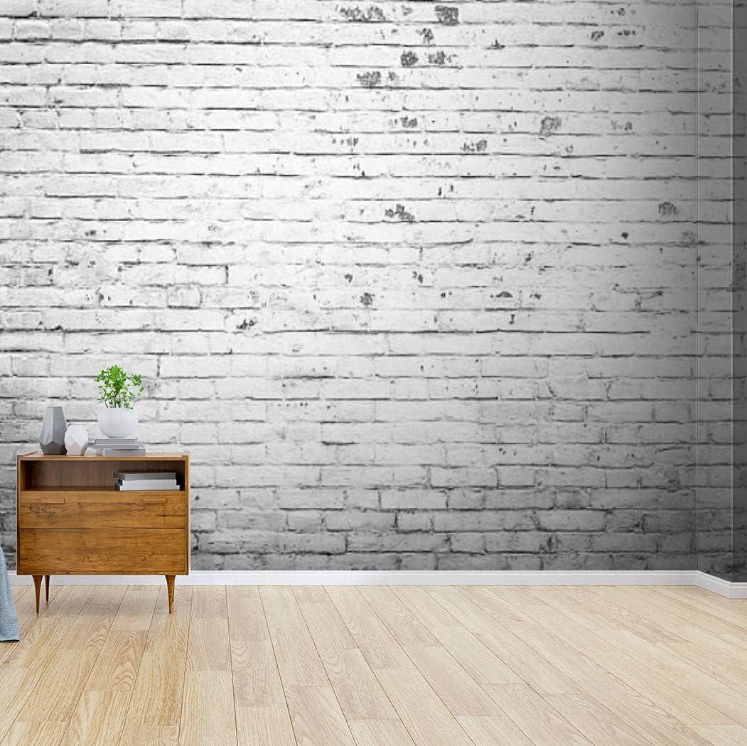 Kanworse Wallpaper Canvas Cheap sale Print Texture Max 79% OFF Brick Adhesive Self Peel