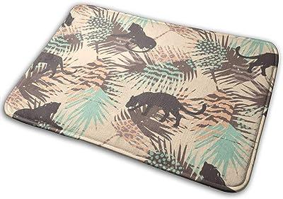 Door Mats Leopards and Abstract Floor Mat Indoor Outdoor Entrance Bathroom Doormat Non Slip Washable Welcome Mats Decor 23.6 x 15.7 inch