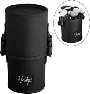 Nanshy Travel Makeup Brush Case (Large Black Cup Holder Without Make Up Brushes)