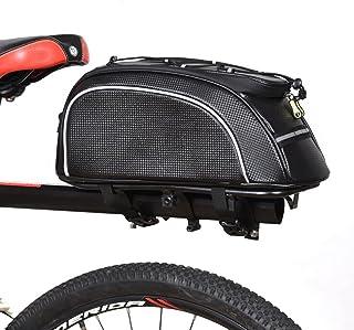 JBHURF Pannier de Bicyclette PU Sac arrière Sac à Queue électrique Sac de siège arrière de la Voiture de la Moto de la Mot...