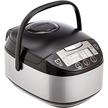 AmazonBasics Multi-Functional Rice Cooker - 5.5-Cup Uncooked (11-Cup Cooked), Black