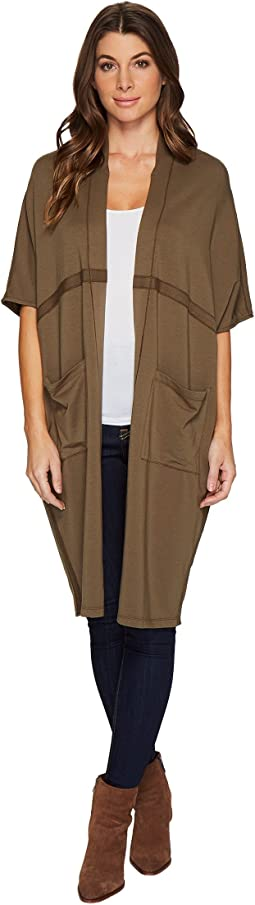 Mod-o-doc - Cotton Modal Spandex French Terry Seamed Cocoon Cardigan