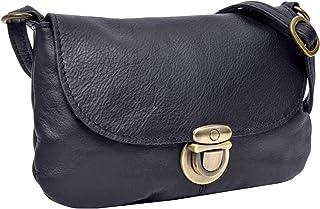 Gusti Umhängetasche Leder - Rona Handtasche Ledertasche Vintage Schwarz Leder
