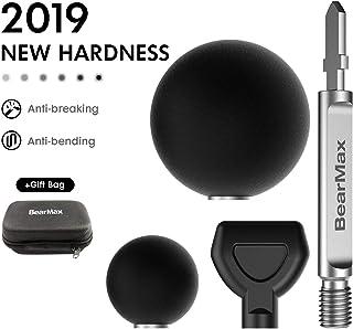 Jigsaw Massage Adapter and Bits 2019 New Upgraded Deep Tissue Massager Percussion Massage Balls by BearMax (Massage Adapter with Storage Bag)