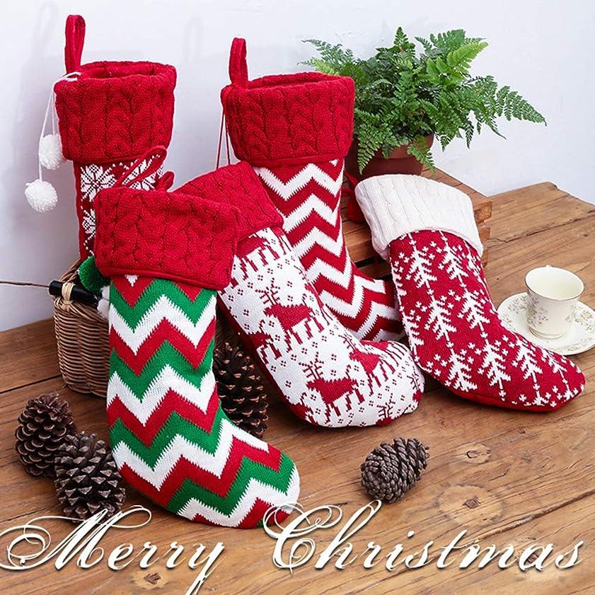 共感するつぼみマトンTimever(タイムエバー)クリスマスソックス クリスマスオーナメント 靴下 ブーツ クリスマスツリー飾り 玄関飾り クリスマスプレゼント ギフトバッグ 贈り物 お菓子 キャンディーを入れる袋 (スノーフレーク)