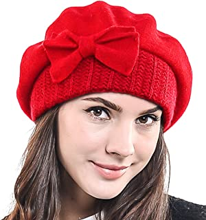 beanie hat with bow