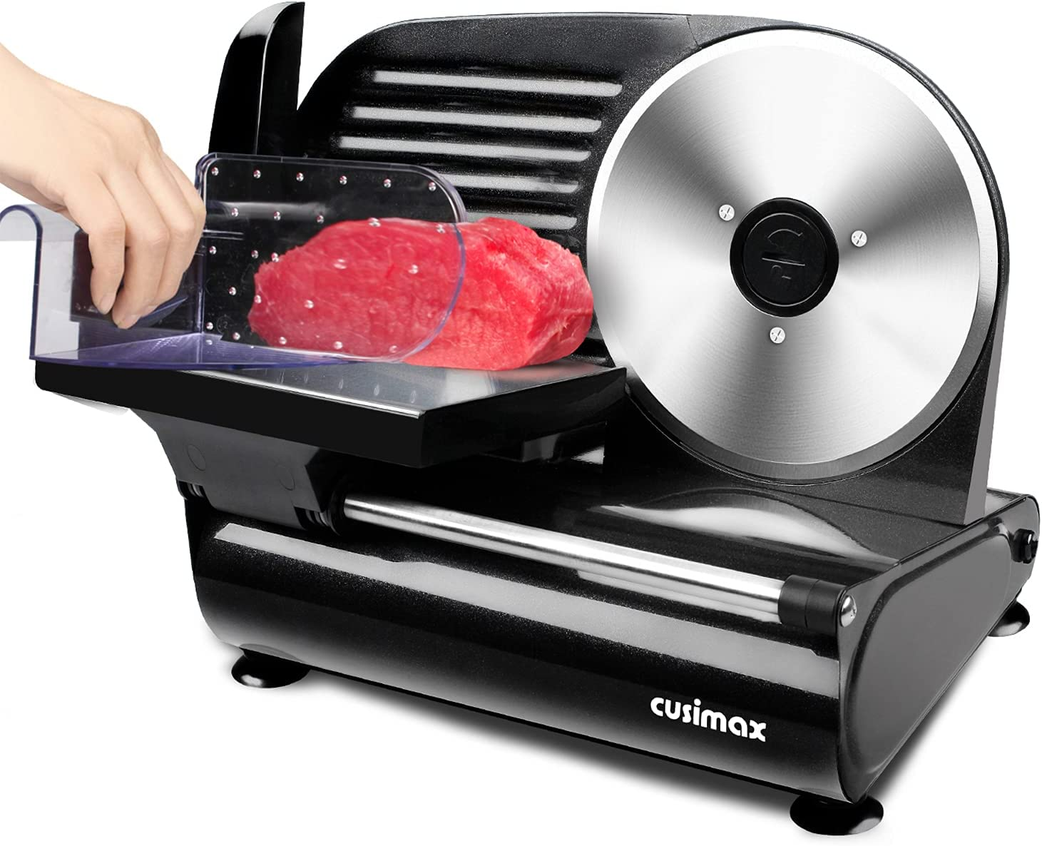 """Meat Slicer Max 50% OFF CUSIMAX Very popular Electric Removab Food 7.5"""" with"""