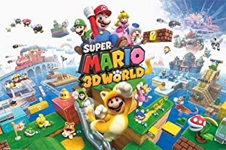 Super Mario 3D World Nintendo Platform Game Series Wii U Packaging Artwork Print Cool Wall Decor Art Print Poster 36x24