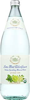 Whole Foods Market, Italian Sparkling Mineral Water, Lime Mint Elderflower, 33.8 fl oz