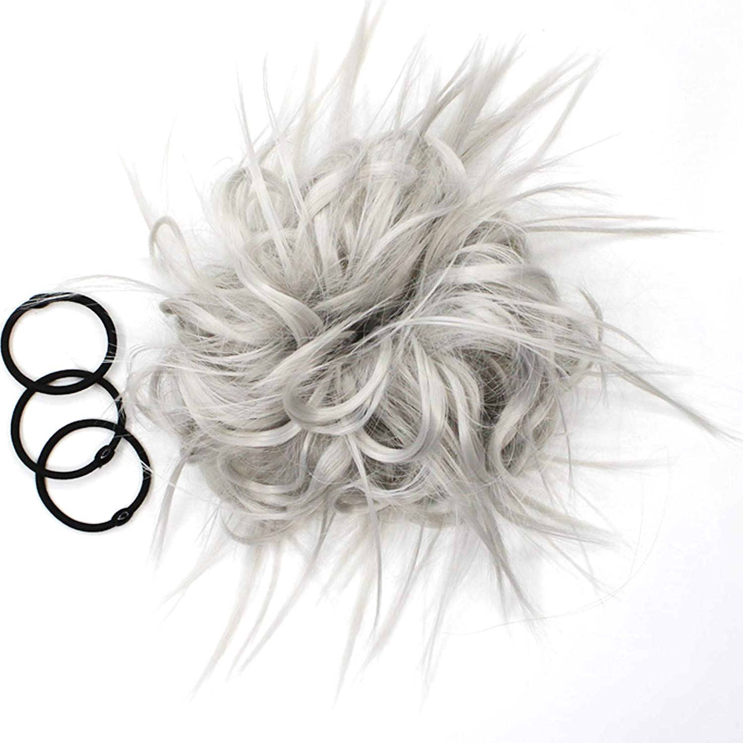 Messy Bun Hair Piece Tousled W Extension Curly Max 75% OFF Ponytail Popular brand