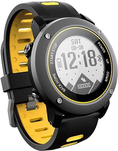 Sanniya Montre Intelligente de GPS traqueur de Forme Physique avec l'altimètre baromètre Compas Moniteur de fréquence Cardiaque étanche IP68 Montre de Sport numérique pour Les Sports en Plein air