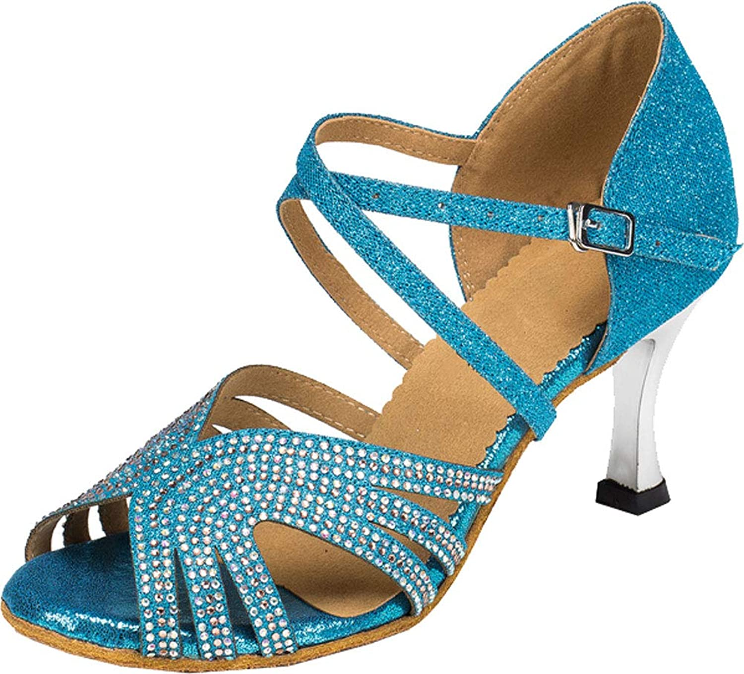 Womens Latin Dance Evening Ballroom shoes Tango Cha-cha Salsa Ankle Straps 0022