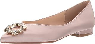 حذاء باليه مسطح من Betsey Johnson للنساء SB-DIANA من الساتان العادي، 6 M US