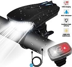 STATOR Luz Bicicleta,Luz Bicicleta LED Recargable USB con 400 Lúmenes IPX5 Impermeable, Luz Bicicleta Delantera y Trasera con 5 Modos, Luz Bicicleta para Carretera y Montaña- Seguridad para la Noche