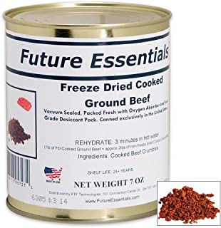 Future Essentials Canned Cooked Freeze Dried Ground Beef (7 Oz)