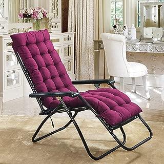 Scorpiuse Sun Lounger Cushion 67-inch Lounge Chaise Cushion Sun Lounger Mattress with Non-Slip Back Elastic Sleeve for Garden Outdoor/Indoor/Sofa/Tatami/Car Seat/Bench (67 x 21 x 3 inch, Purple)