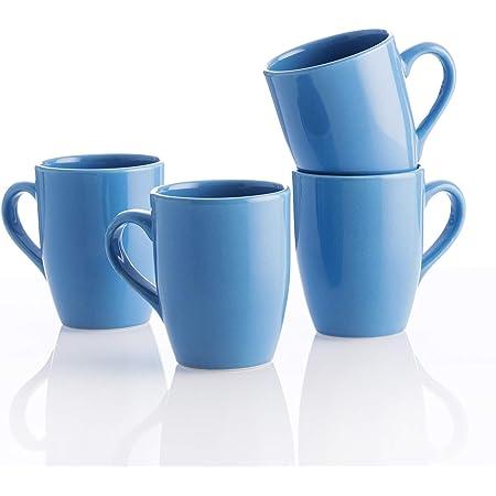UNITED COLORS OF BENETTON. BE061 Set de 4 tasses 11 cm 360 ml Faïence bleue  Casa Benetton, Gres: Amazon.fr: Cuisine & MaisonAmazon
