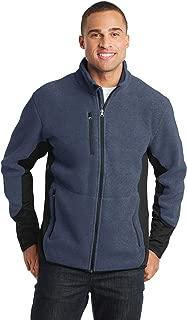 Port Authority R-Tek Pro Fleece Full-Zip Jacket 2XL Navy Heather/ Black