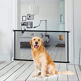 Magic Gate for Dogs LHSM 72 * 180CM Portable Pet Safety Enclosure with four Adhesive Hooks Easy to Install Folding Pet Iso...